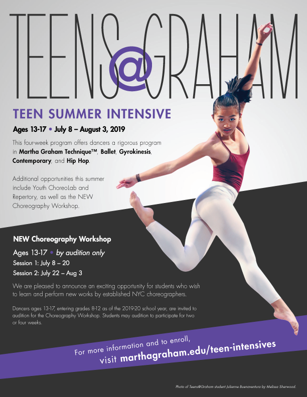 Teens@Graham Summer Intensive – Martha Graham School